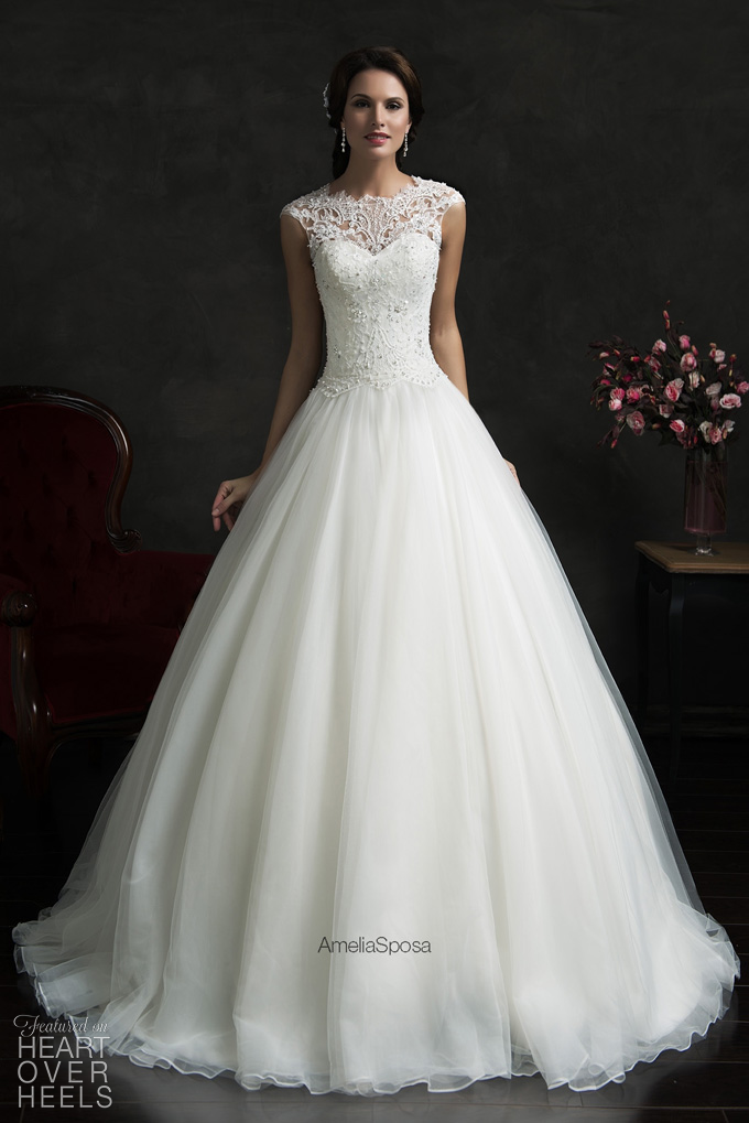 amelia sposa 2015 wedding dress style monica heart over heels bridal designer