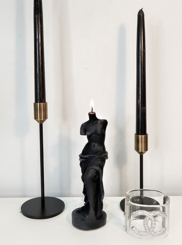The Venus Candle in Ultra Black - Black