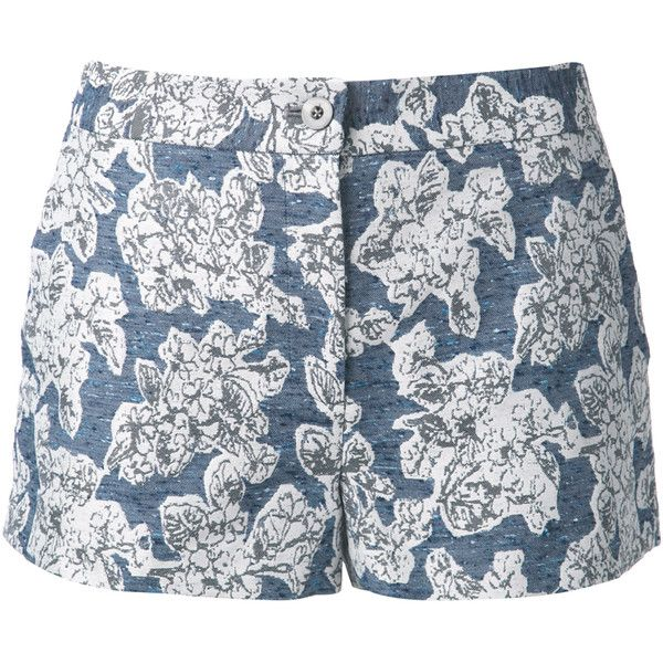 Thakoon Brocade Floral Shorts (€165) ❤ liked on Polyvore