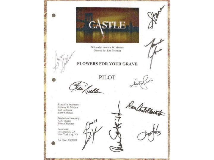 castle pilot episode tv script screenplay stana katic pinterest