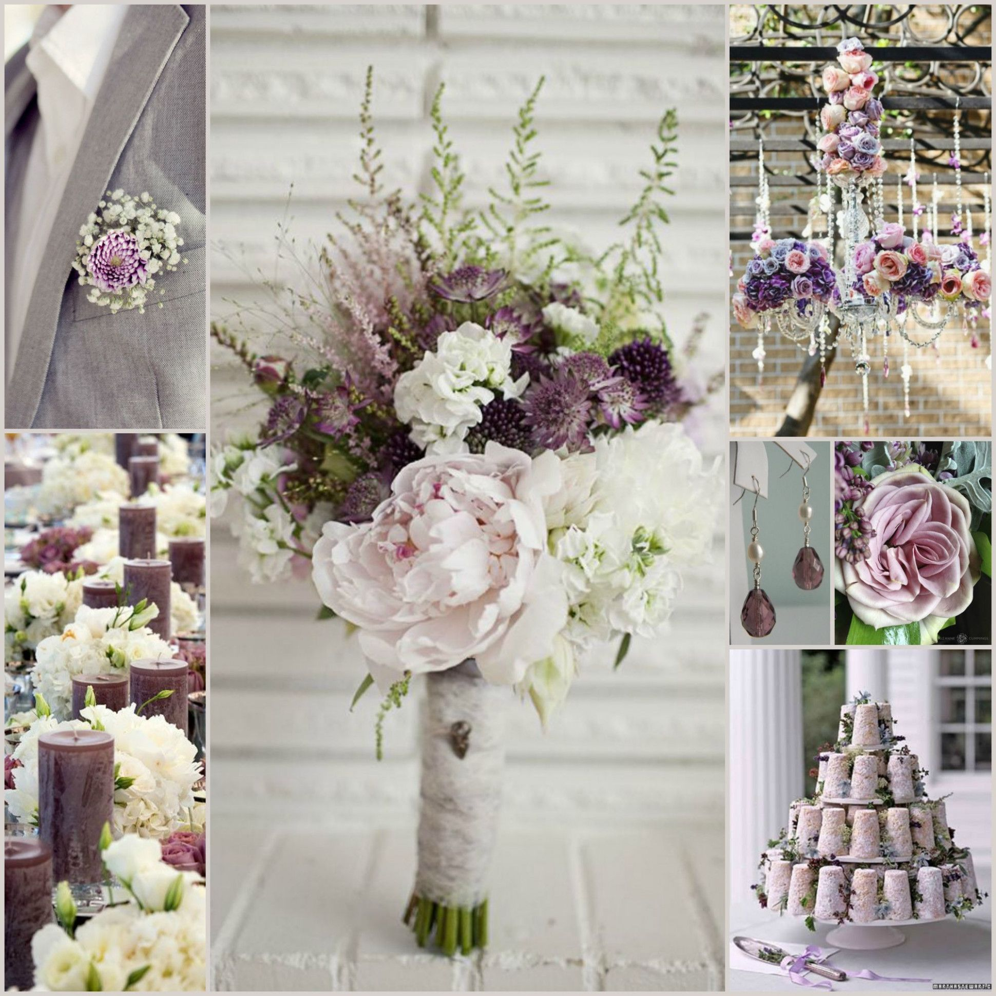 Navy And Dusty Purple Wedding