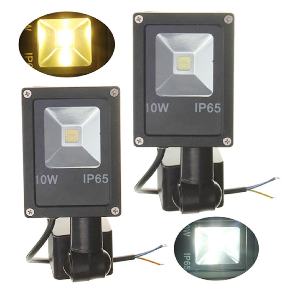 12v 10w Pir Motion Sensor Led Flood Light Ip65 Warm Cold White Light Led Flood Lights Led Flood Flood Lights