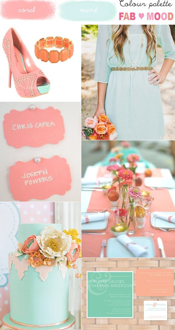 Rustic Wedding Mint And Coral Dress Shoes Accessories Table And Cake