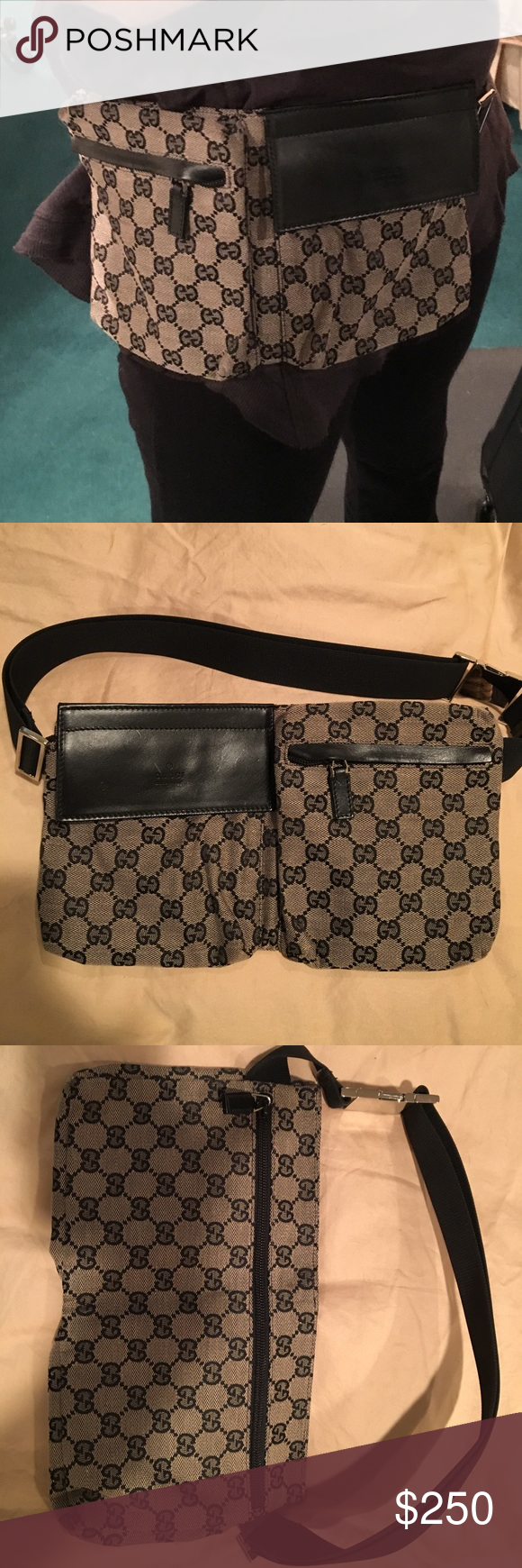 9717f97f83fb Gucci waist bag This gently worn authentic Gucci Fanny pack is amazing. In  almost perfect condition. Great for new moms on the go. Hands free. Gucci  Bags