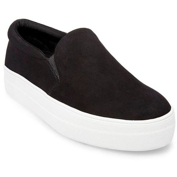 3e4466ecb82 Steve Madden Suede Thick Bottom Sneaker ( 79) ❤ liked on Polyvore featuring  shoes