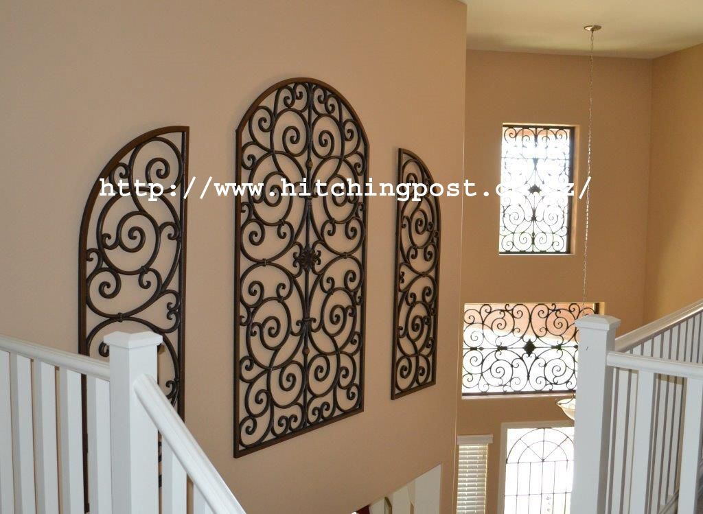Tableaux Faux Wrought Iron Wall Décor For Niches Custom Size Accents Light Art Architectural Accent