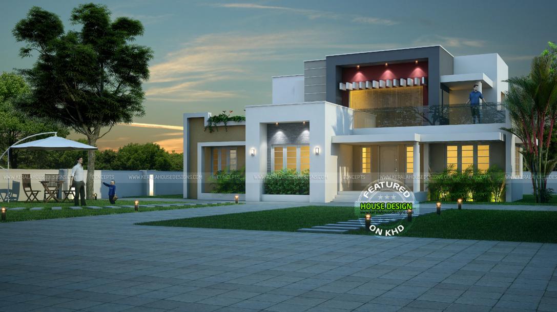 Wonderful Contemporary Inspired Kerala Home Design Plans Kerala House Design House Plans House Designs Exterior