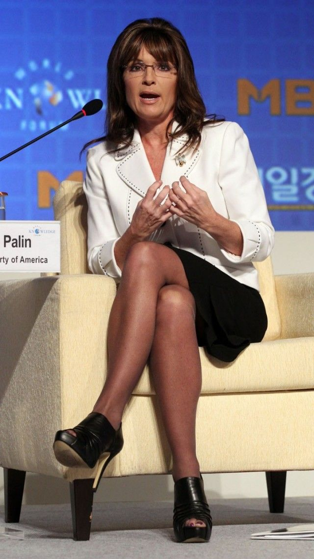 Sarah Palin White Mini Dress