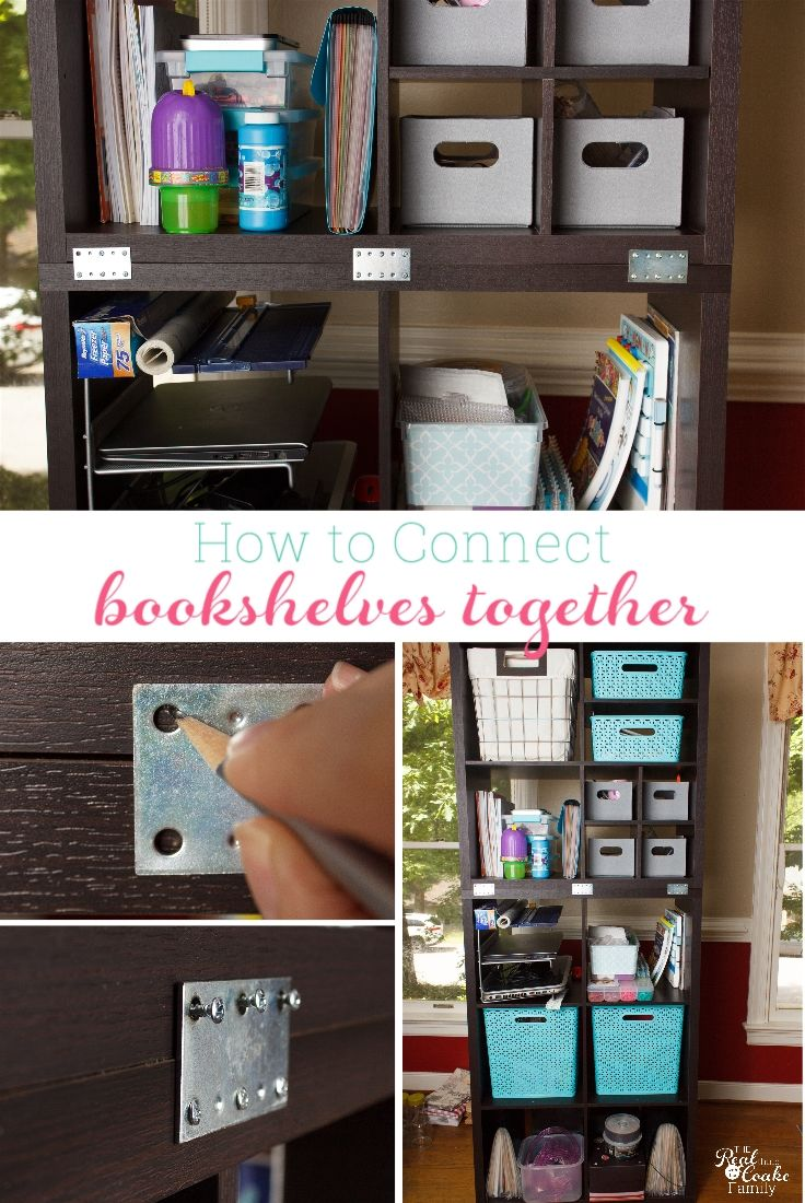Connect Freestanding Bookshelves Or Storage Cubes Together Perfect Ikea Hack To Use With The Kallax Billy Bookcases Make Our House Safer And