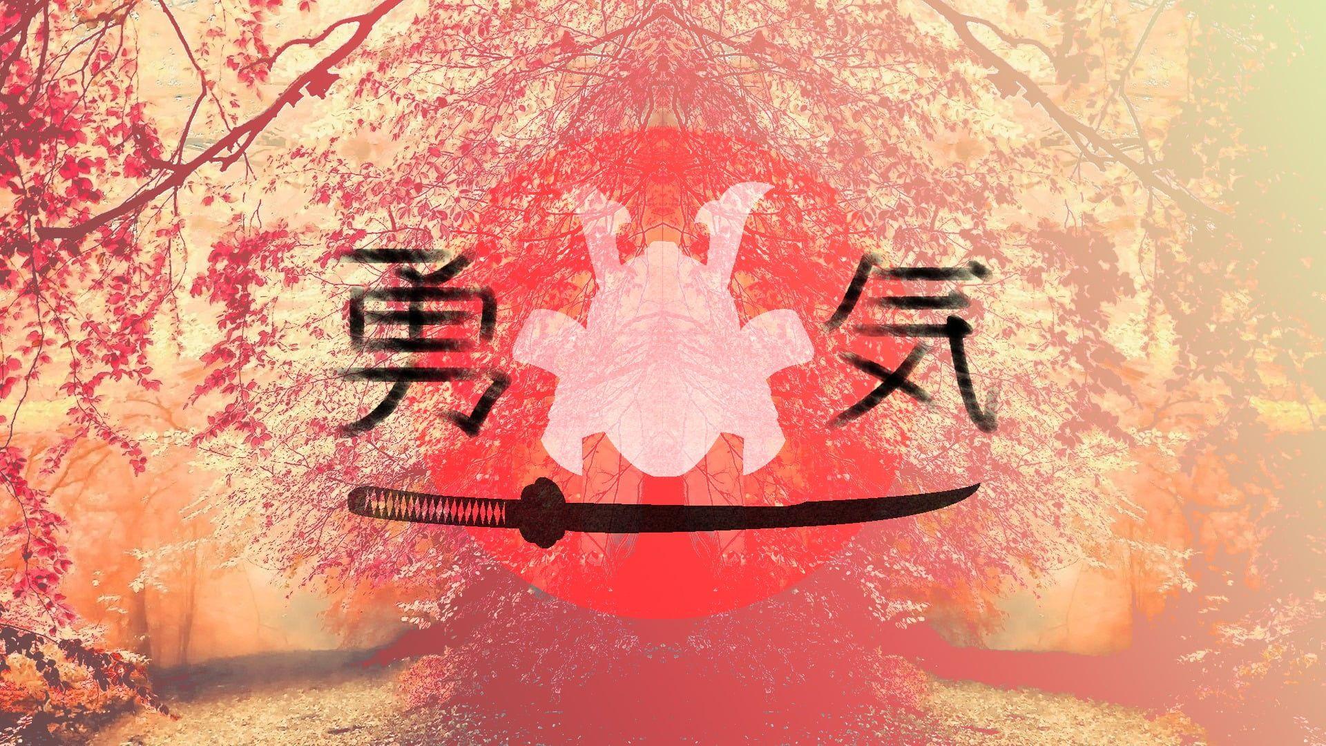 Pink Samurai Kanji Japan 1080p Wallpaper Hdwallpaper Desktop Anime Wallpaper Wallpaper Samurai 10 wallpaper anime samurai
