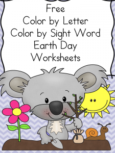 Earth Day Coloring Fun  Earth day Colors and Words