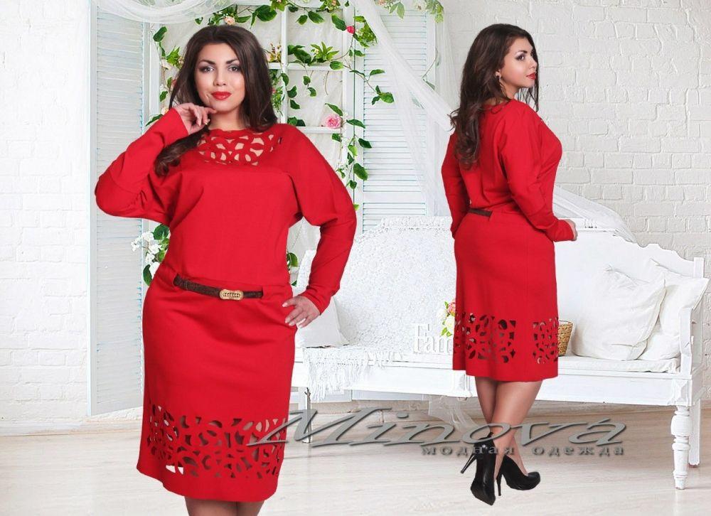 Платье №368-красный - Платья-Батал - Minova интернет ...