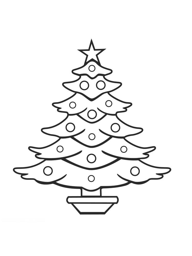 Printable Christmas Tree Coloring Pages Christmas Tree Coloring Page Christmas Tree Drawing Tree Coloring Page