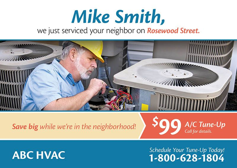 Check Out This Heating And Air Conditioning Postcard Marketing Ideas For Your Direct Mail Campaign Direct Mail Postcards Hvac Business Air Care