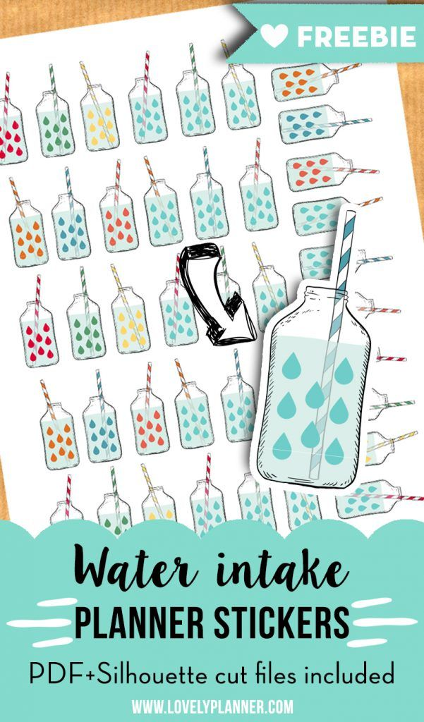 Keep track of your water intake with these free printable ...
