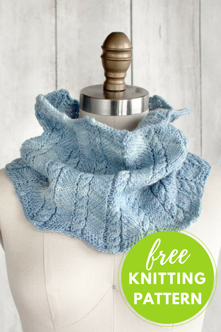Zigzag Cable Cowl Free Knitting Pattern Neck Warmers Pinterest