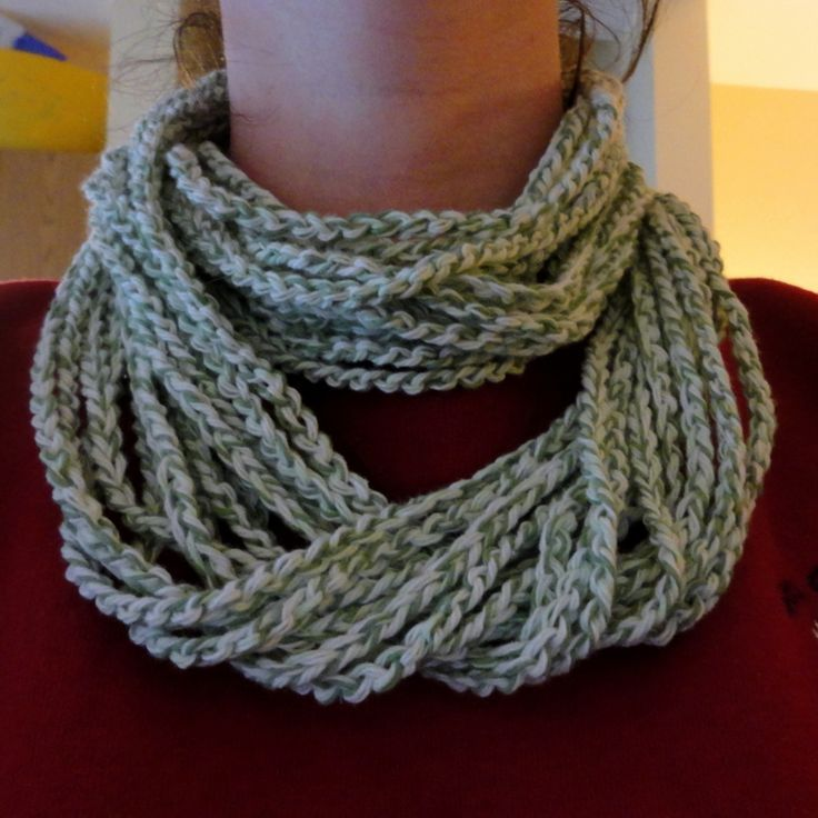Free Crochet Spiral Scarf Pattern Easy Loopy Chain Scarf Free