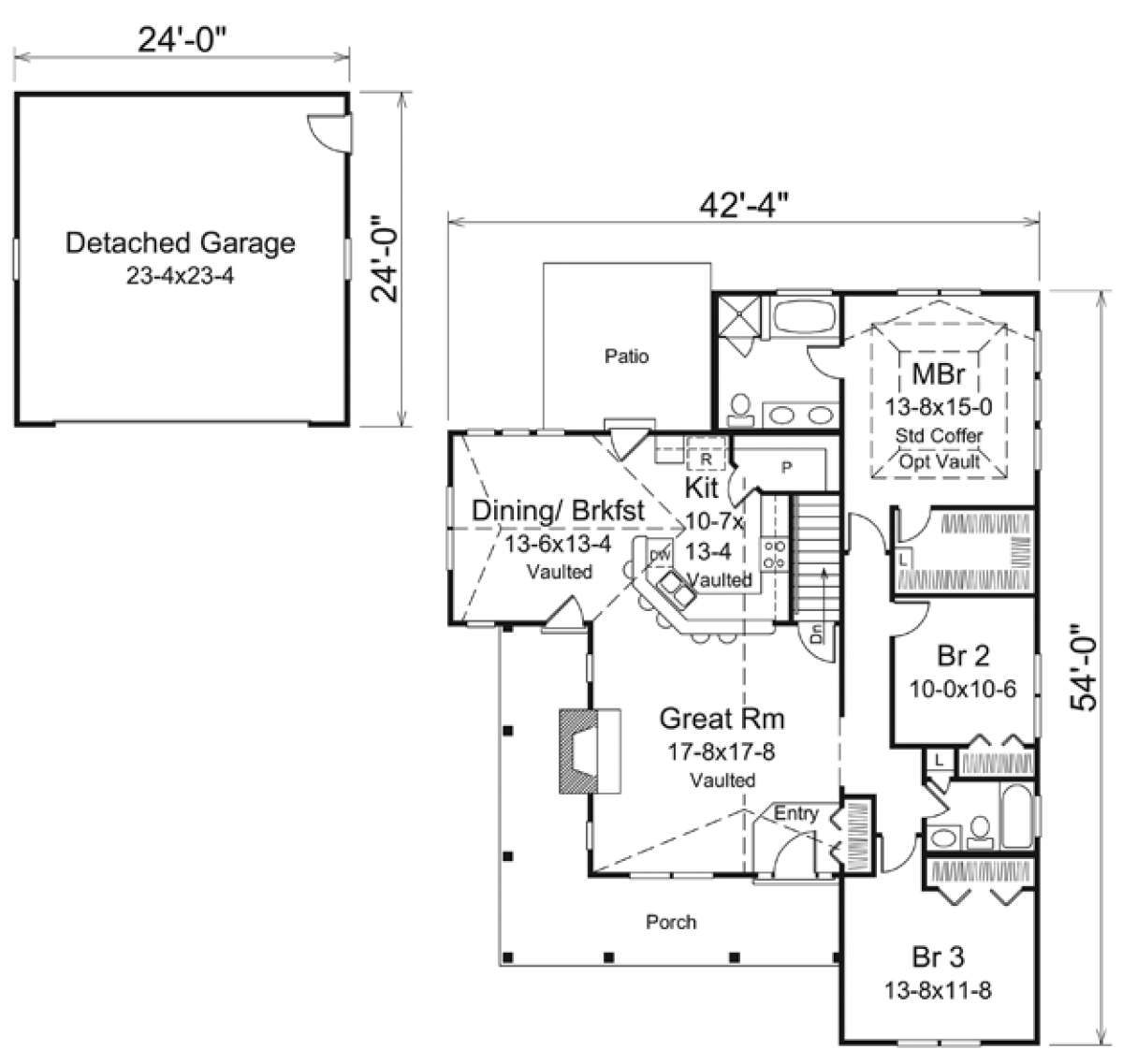 House Plan 5633 00213 Ranch Plan 1 582 Square Feet 3 Bedrooms 2 Bathrooms In 2020 Shed House Plans House Plans Free Shed Plans
