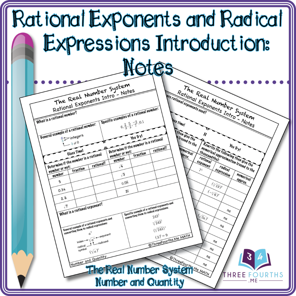 Rational Exponents and Radical Expressions Introduction