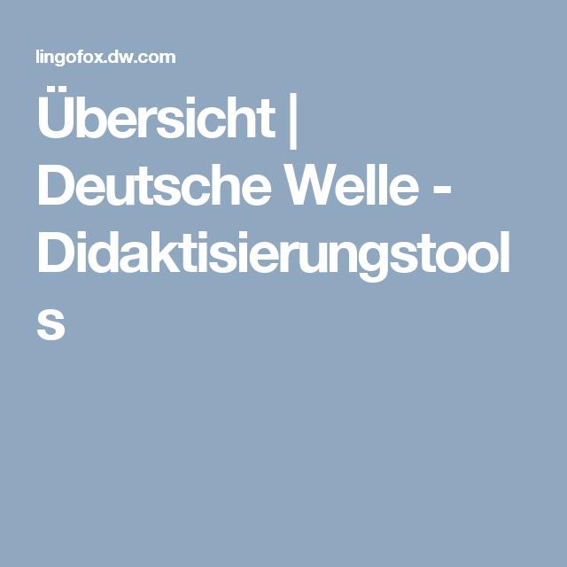 Übersicht Deutsche Welle Didaktisierungstools German