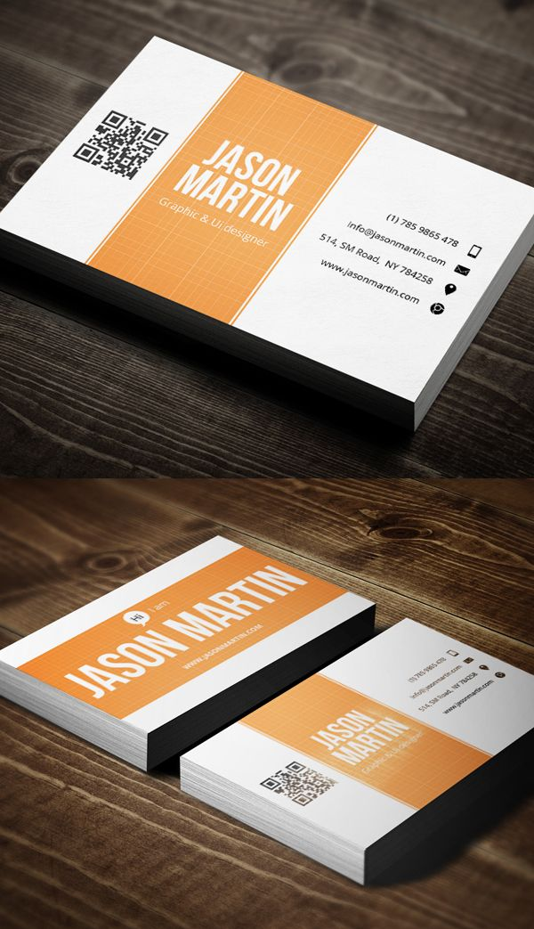 Creative Designer Business Card - swap code with logo | DESIGN l ...