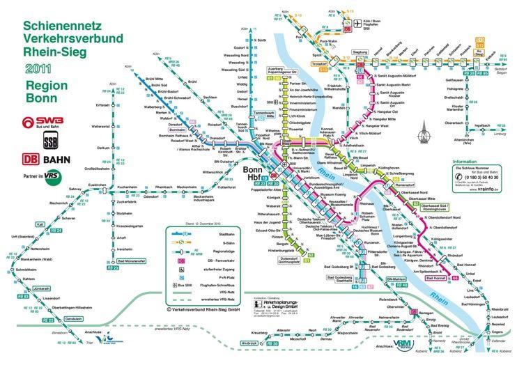 Bonn metro map Maps Pinterest Bonn and City