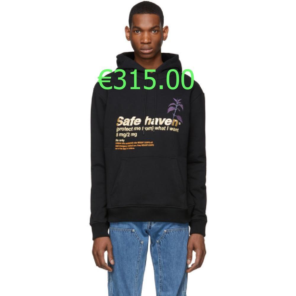 €315.00 Pull a capuche et manches longues en jersey