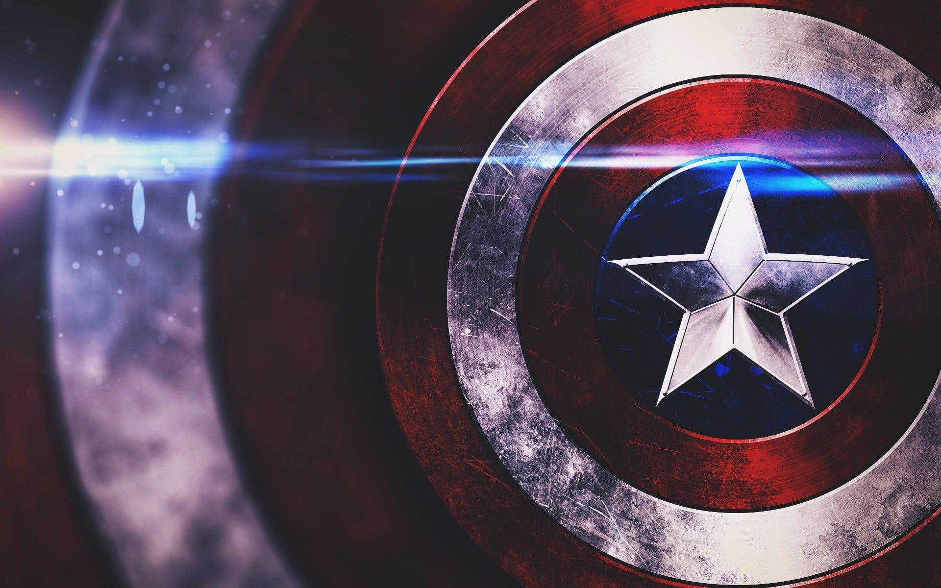 Captain Marvel Movie Poster Captain America Shields Optical Flares Stars 1080p Captain America Wallpaper Captain America Shield Wallpaper Shield Wallpaper