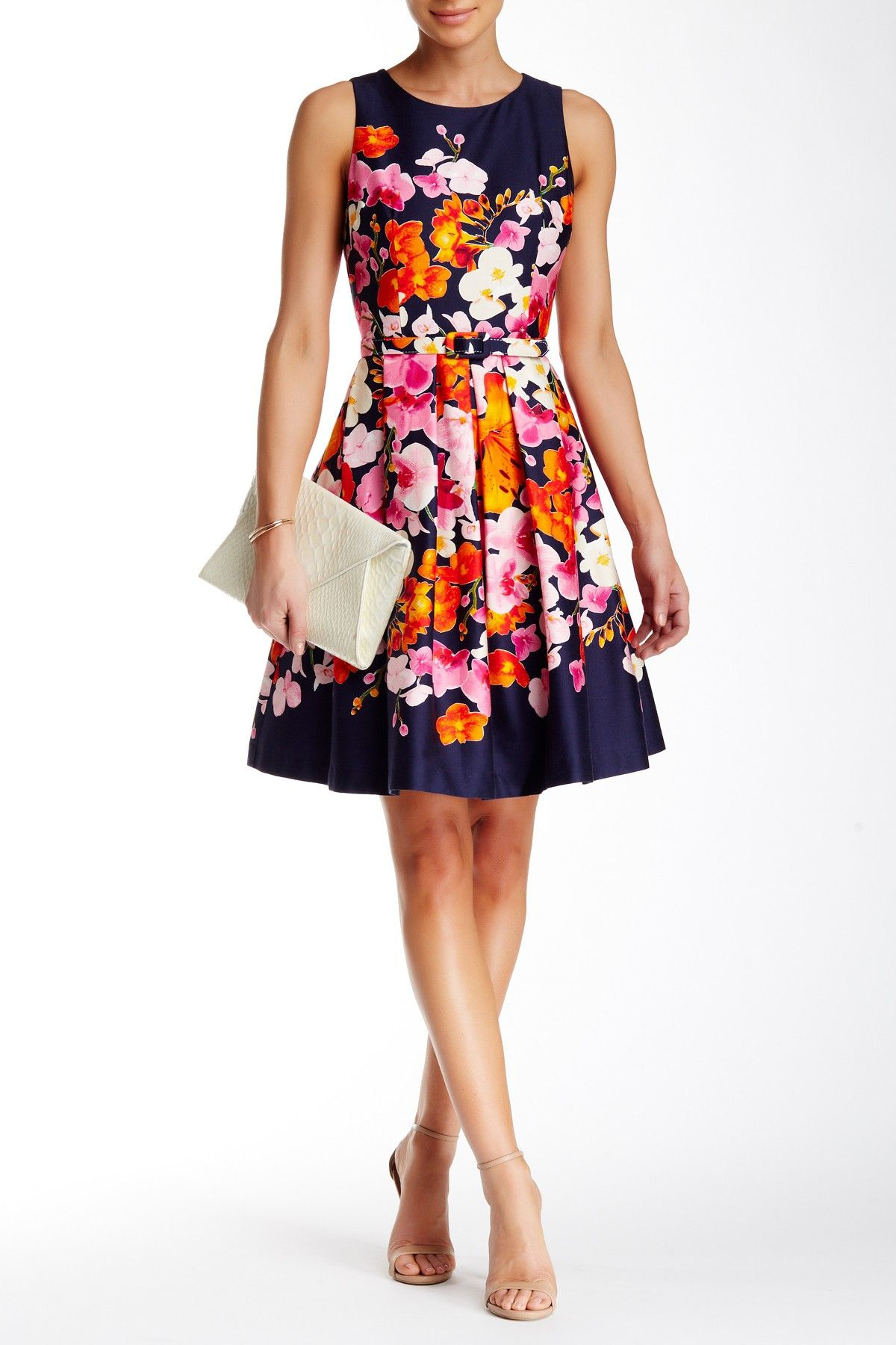 Sleeveless Floral Fit & Flare Dress | Fit flare dress, Nordstrom and ...