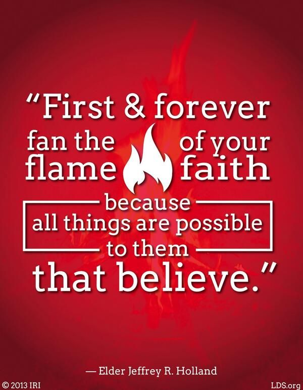 Fan the flame of your faith