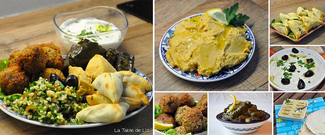 Assiette de mezzé Libanais | Repas idéal, Recette houmous ...
