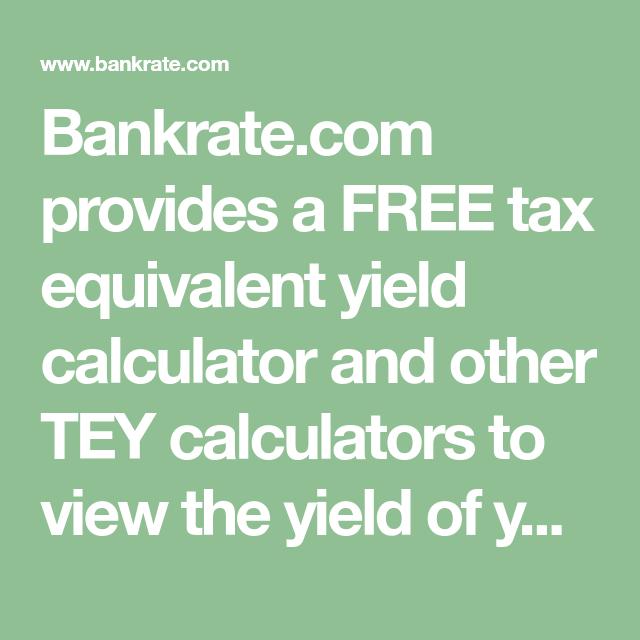 Tax Equivalent Yield Calculator