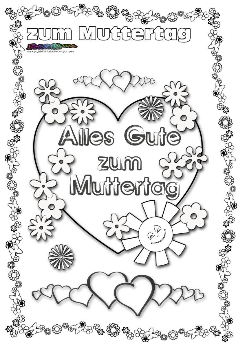 Muttertag Ausmalbild Malvorlage Gruss Mit Herz Babyduda Malbuch Muttertag Malvorlagen Ausmalbilder Zum Ausdrucken Ausmalbilder