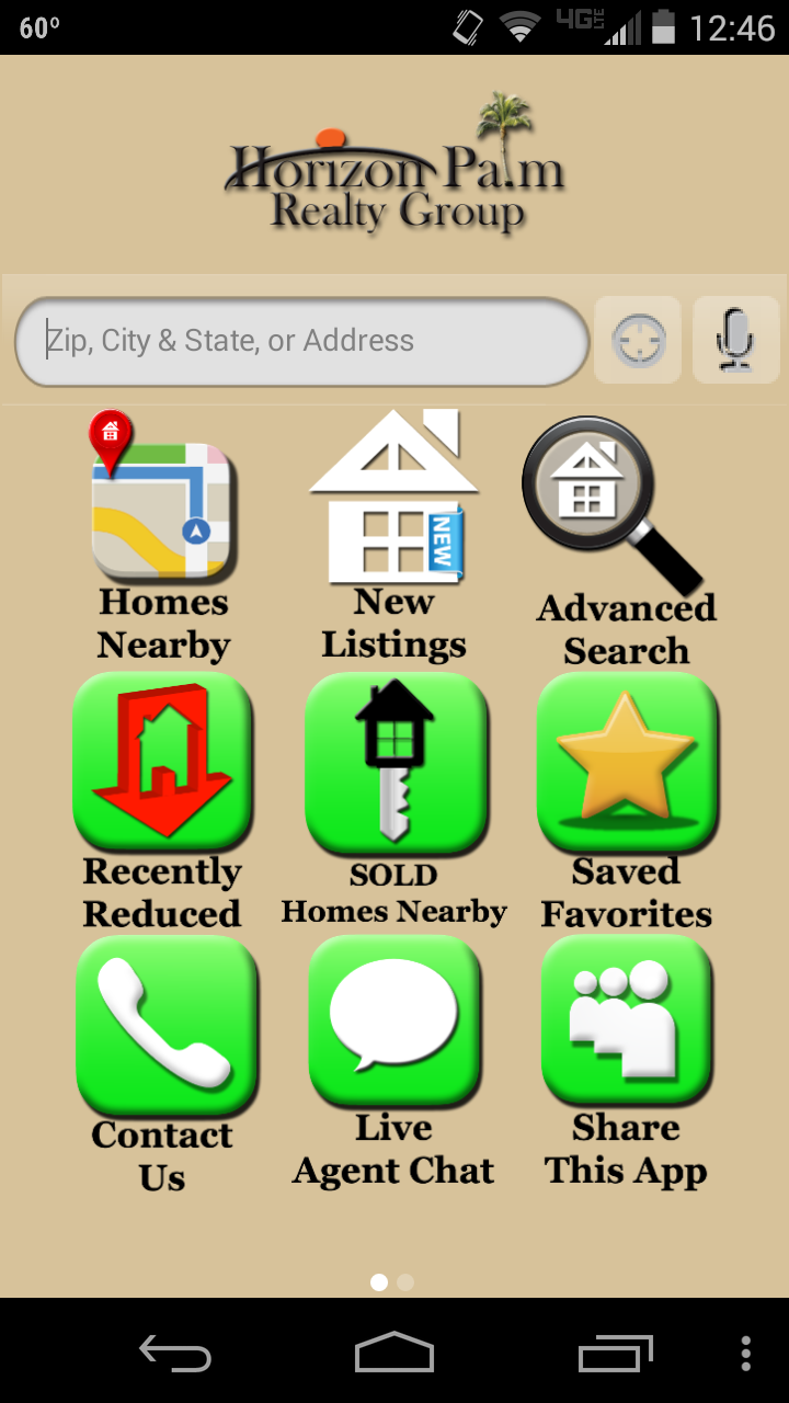 Horizon Palm Realty Group | White Label examples | App, Mobile app