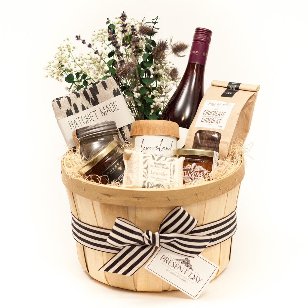 A TORONTO GIFT BASKET WITH A SELECTION OF LOCAL LUXURIES FOR THE HOME Weddi