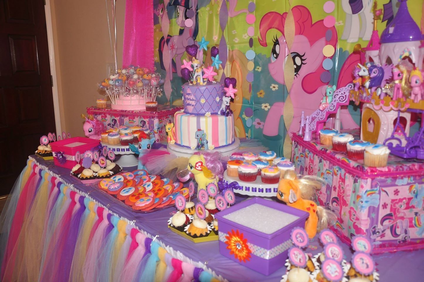 My Little Pony Dessert Table Little Pony Birthday Party My