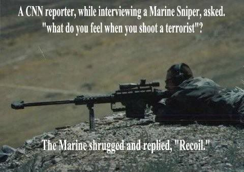 61bcc7aa087d2596b366ac9d83d633fc military qoutes and sayings sniper to reporter, \