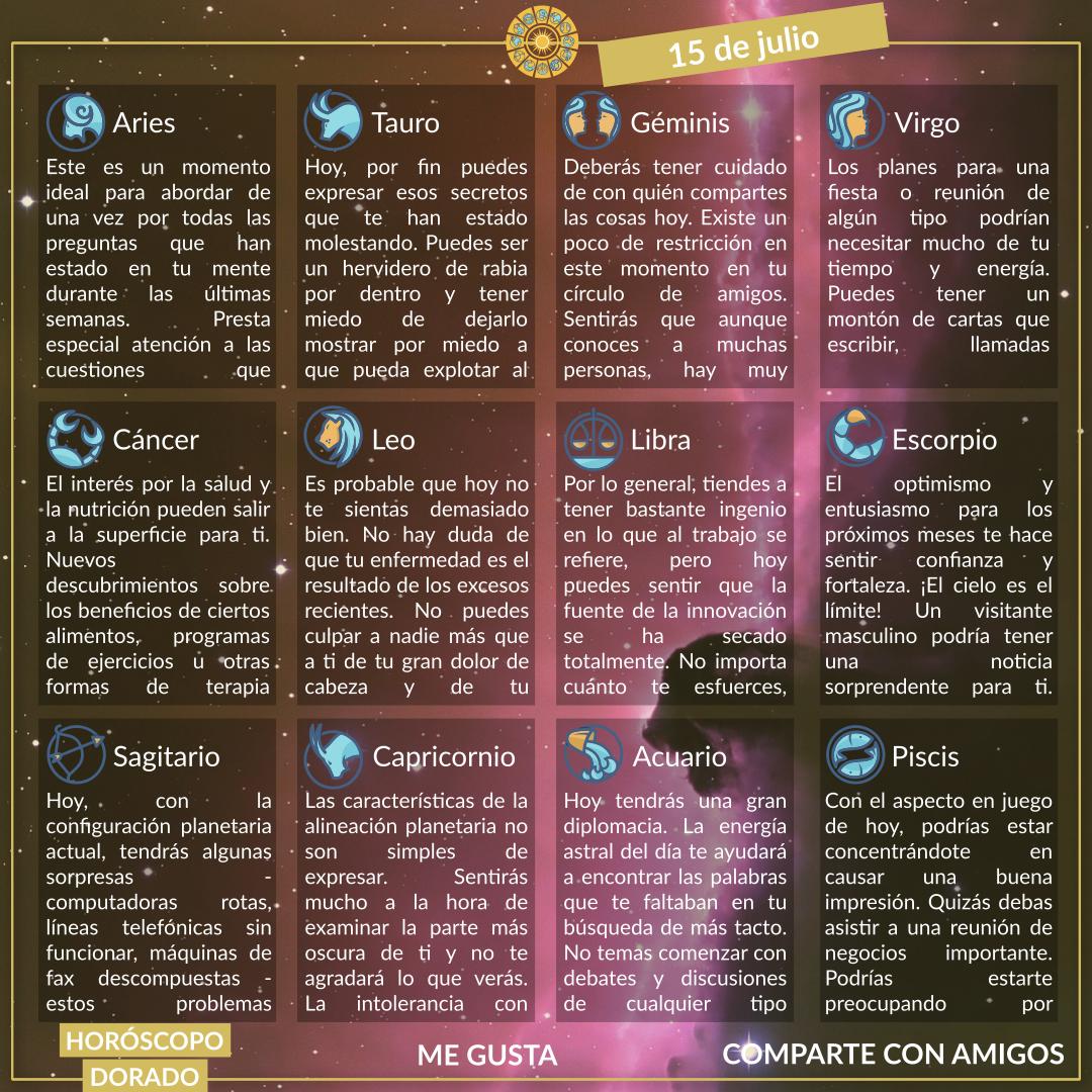 Horóscopos De Hoy 15 De Julio 2020 Event Bts Memes