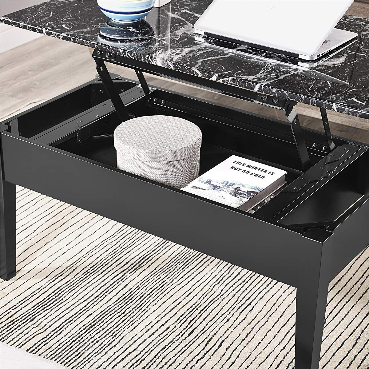 Marble Lift Top Storage Coffee Table Coffee Table With Storage Marble Coffee Table Coffee Table [ 1200 x 1200 Pixel ]