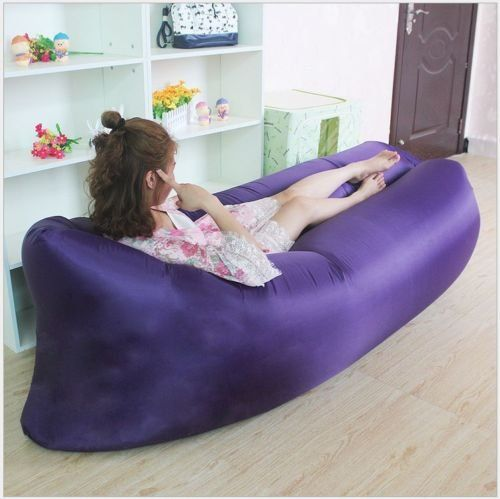 Inflatable Air Mattress Sleeping Bag Camping Bed Beach Hangout Lay Bag Sofa Purple Read More Reviews Of The Product By Inflatable Sofa Beach Sofa Camping Bed