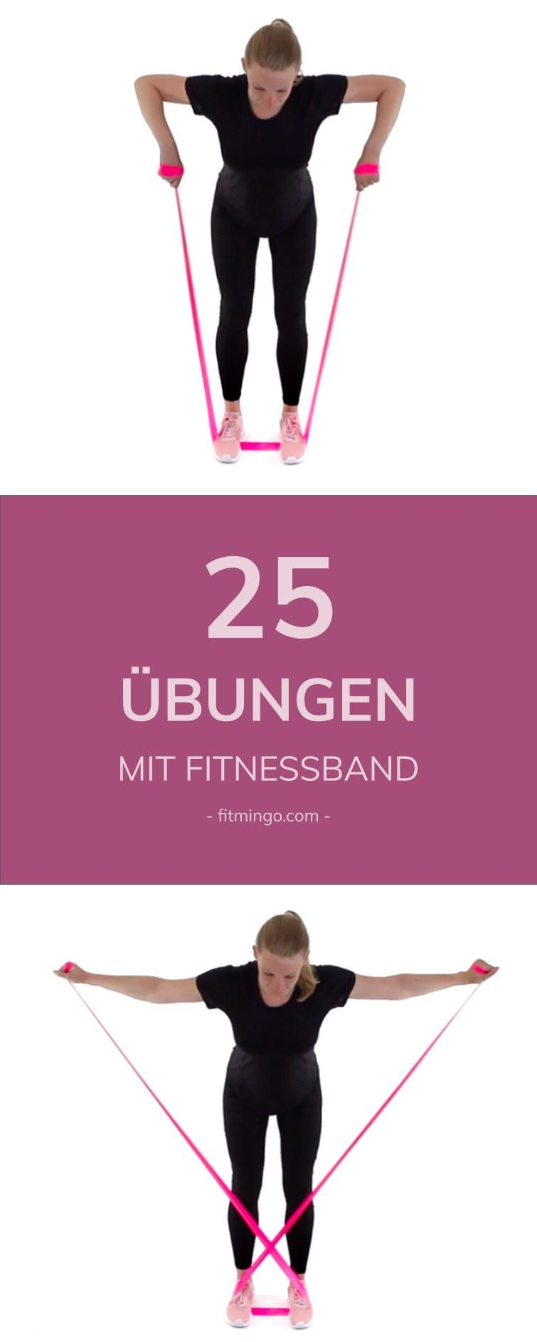 Photo of 25 exercises with a fitness band