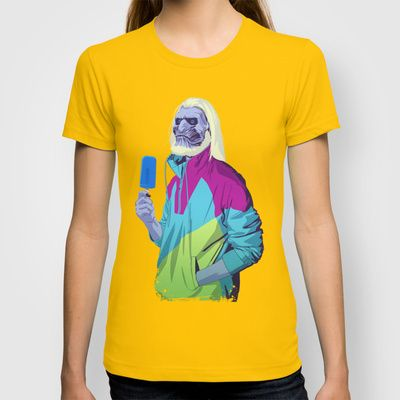 This guy does some awesome 80/90s style art GAME OF THRONES 80/90s ERA CHARACTERS - White Walker T-shirt by Mike Wrobel - $18.00