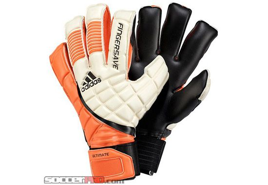 Adidas Fingersave Ultimate Goalkeeper Gloves White With Warning And Black 115 99 Goalkeeper Gloves Gloves Goalkeeper