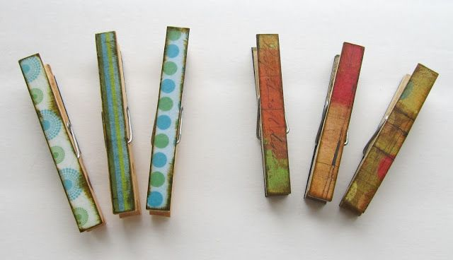 The Gunny Sack: Covered Clothespin Magnets Tutorial