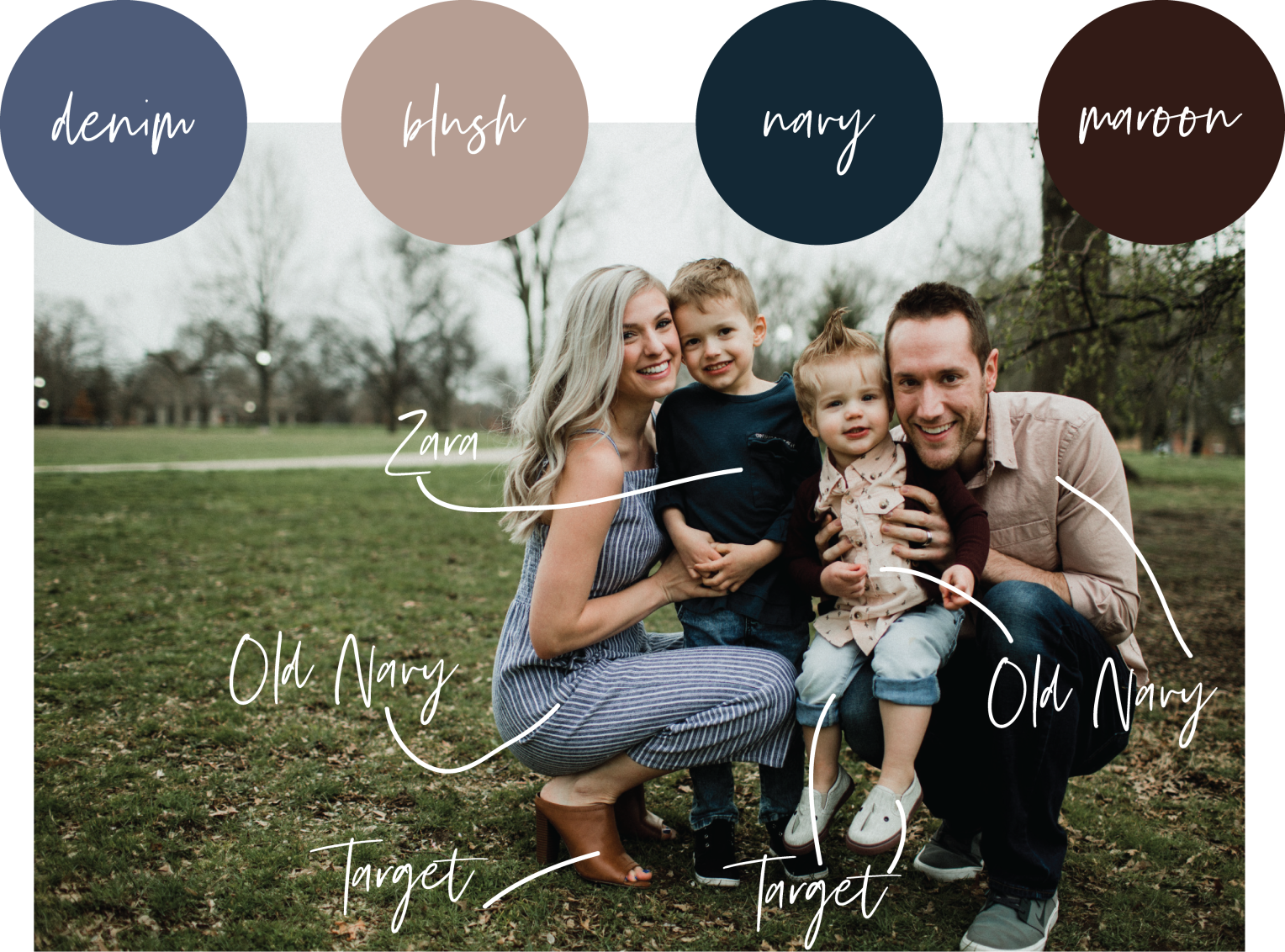 Family Photoshoot Style Guide #familyphotooutfits