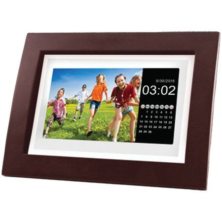 Sylvania Sdpf1092 10 Inch Class Digital Photo Wooden Frame With Remote Brown In 2019 Digital Frame Remote