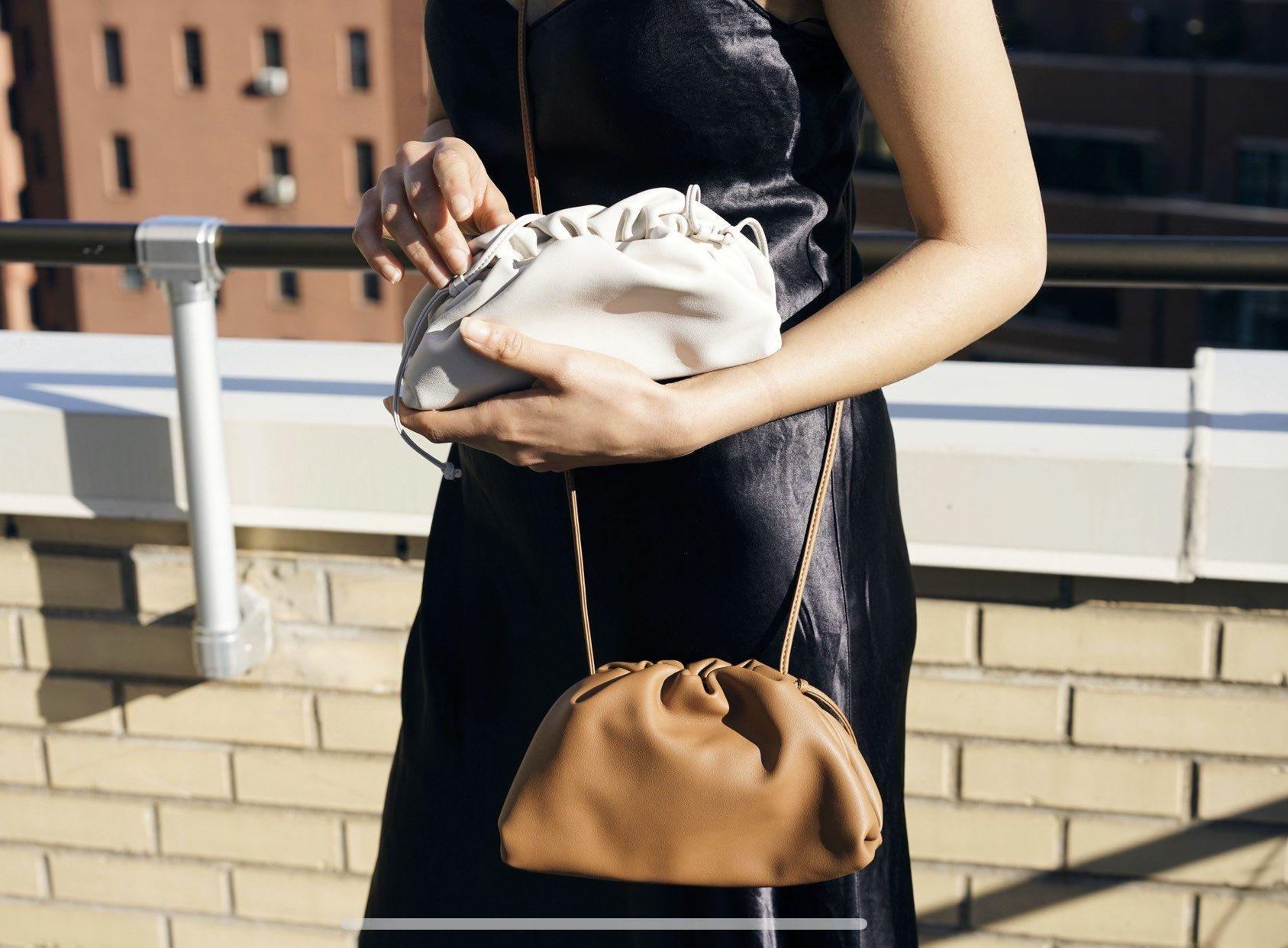 Mini Handmade crossbody The Pouch Leather Bag Soft Calf Clutch Bottega Style