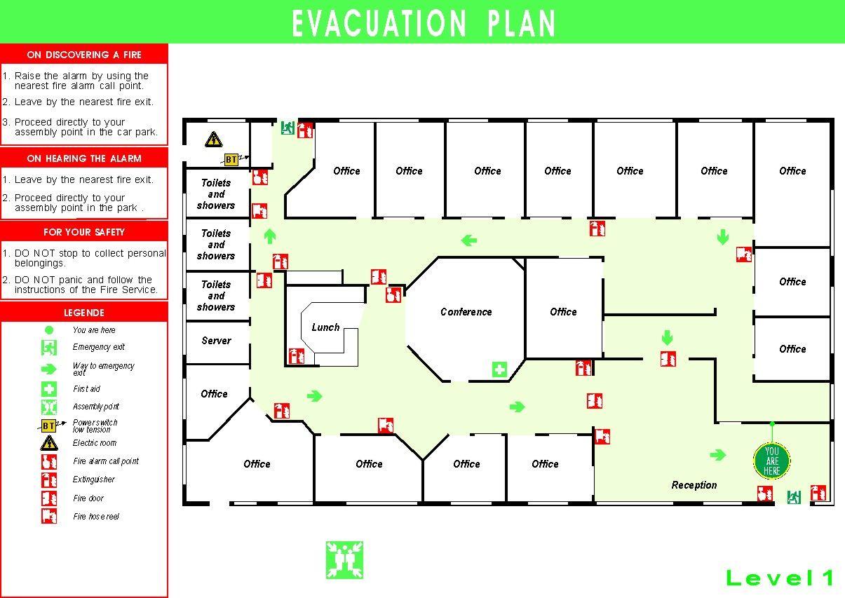 Emergency Plan Diagram 2006 Chrysler Sebring Fuse Box We Draw Evacuation Maps Fire Escape Plans