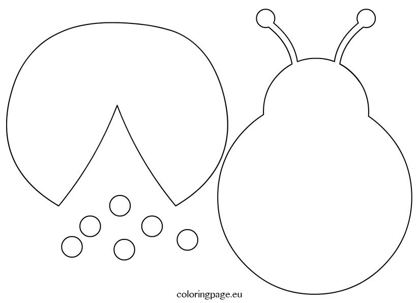 coloring pages of flying ladybugs - photo#44