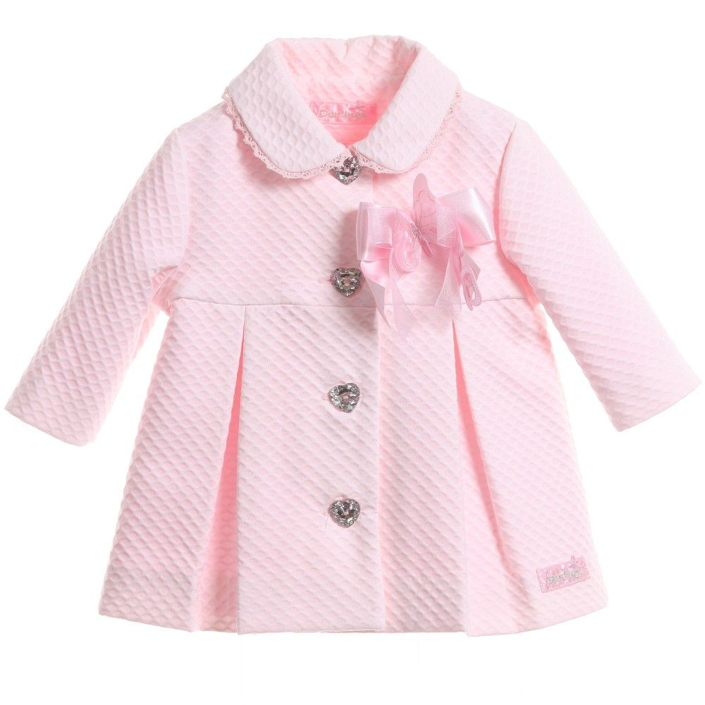 Little Darlings baby girls pale pink coat | #JACKETS #COATS ...